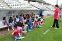 Els infants de les ciberaules visiten el Camp d'Esports