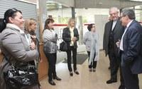 L'alcalde de Lleida Àngel Ros, ha rebut el Bisbe de Lleida, Mons. Joan Piris, amb motiu de la visita que ha mantingut a Balàfia