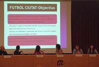 L'equip educatiu d'entorn de la Paeria explica el projecte Futbol Ciutat a Tarragona