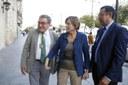 El alcalde preside la recepción institucional a la presidenta del Parlamento de Cataluña, Carme Forcadell