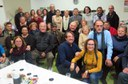 El teniente de alcalde Xavier Rodamilans asiste a la celebración de la Navidad de la Asociación de Laringectomizados de Lleida