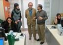 Xavier Rodamilans visita la asociación Antisida de Lleida