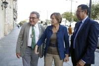 El paer en cap presideix la recepció institucional a la presidenta del Parlament de Catalunya, Carme Forcadell