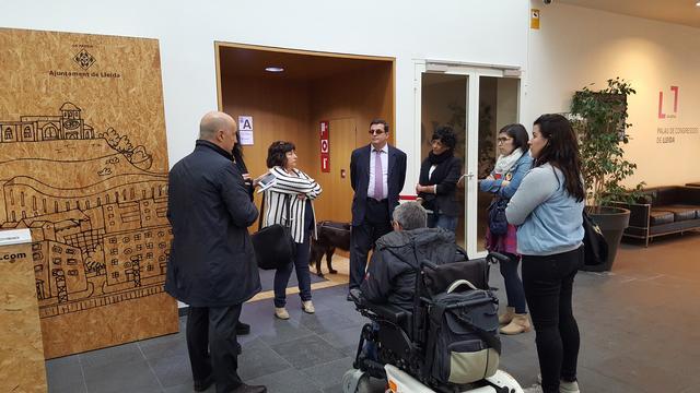 L'Ajuntament de Lleida actualitza el protocol d'accessibilitat del Palau de Congressos – La Llotja