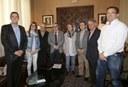 L'alcalde de Lleida rep a una delegació d'Aspros