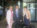 Montse Mínguez visita la seu de l'ONCE a Lleida