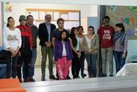Fèlix Larrosa visita el centre socioeducatiu d'atenció diürna Trampolí al Centre Històric