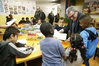 L'alcalde Ros visita el centre socioeducatiu d'atenció diürna infantil Pare Palau