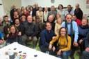 El tinent d'alcalde Xavier Rodamilans assisteix a la celebració del Nadal de l'Associació de Laringectomitzats de Lleida