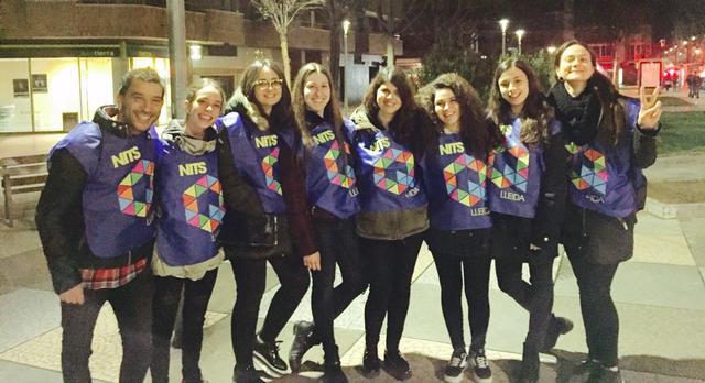 Nova acció dels voluntaris Nits Q Lleida per informar sobre la prevenció i la reducció de riscos en el consum d'alcohol i d'altres substàncies