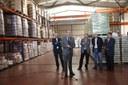 Josep Presseguer visita el Banc d'Aliments