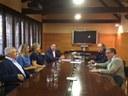 L'alcalde Àngel Ros rep els nous gestors de la Residència Germanetes dels Pobres